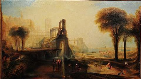 Captain J. W. Anderson (British, 19th Century), Souvenir of Turner, Oil on Canvas,
