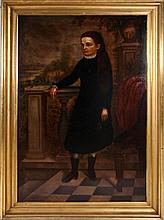 American School (19th Century) Portrait of Miss Hayward, Oil on canvas, relined on board.