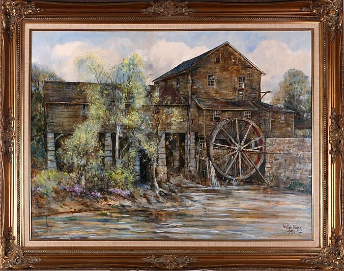Leslie Cope 1913 2002 Springtime At The Mill Pigeon Forge