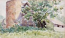 Leslie Cope (1913-2002) The Old Barn, Coopermill Rd., Zanesville, Watercolor on paper,