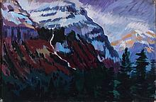 Mark David Gottsegen (1948-2013) Snow and Wind, 6 miles East of Logan Pass Going to the Sun Highway, Glacier Park, MT, 1989, Acrylic...
