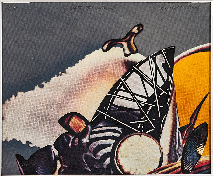 Christopher Pekoc (20th Century) After the Storm, Lithograph collage, mixed media,