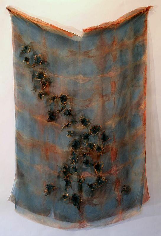 Rebecca Cross (b. 1962) Untitled, Dyes on silk.