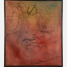 TONY WOODS (1940-2017) SEATED NUDE, OIL ON CANVAS,