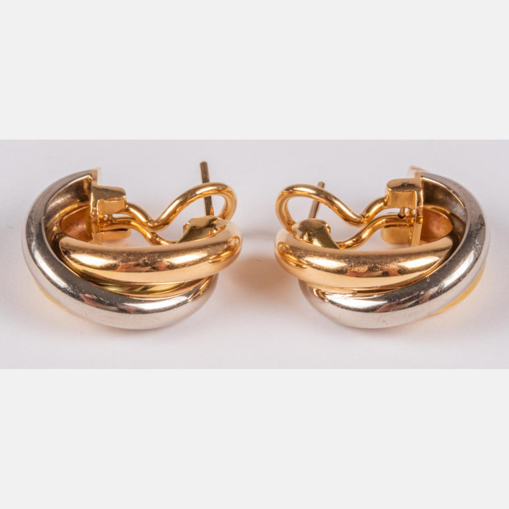 Cartier 18kt Yellow and White Gold Earrings