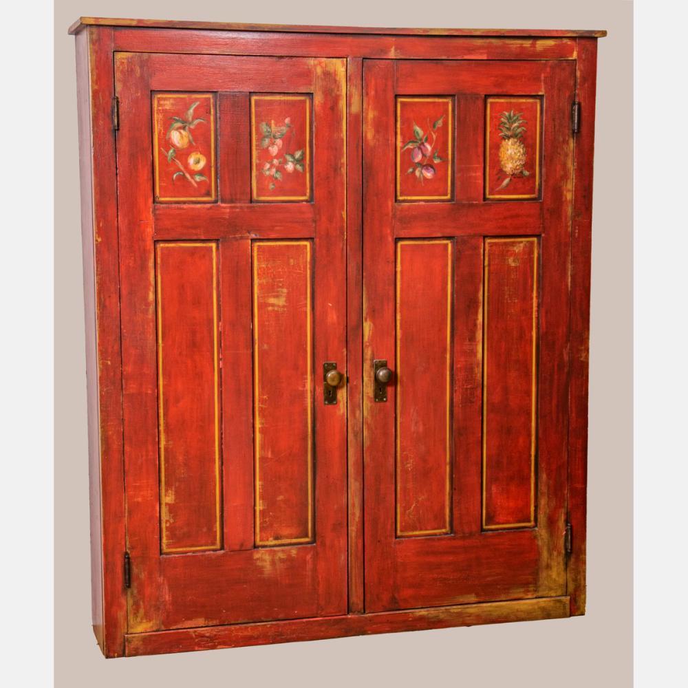 American Painted Pine Two Door Cupboard
