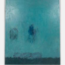 Al Newbill (1921-2012) Delaware River Night, Oil on canvas,