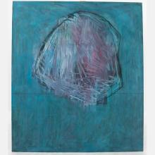 Al Newbill (1921-2012) Skull Object, Oil on canvas,