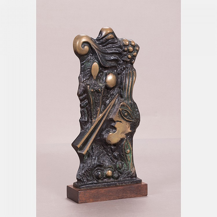 Kieff Grediaga (b. 1936) Picassean, Bronze,
