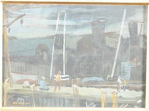 Joseph Kaplan 20th century Rockport Gouache on