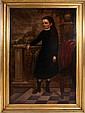 American School (19th Century) Portrait of Miss Hayward, Oil on canvas, relined on board.