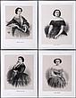 A Group of Four 'Les Perles De Theatre' Portraits After Charles Voight, 19th Century.