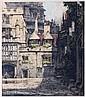 Luigi Kasimir (1881-1962) Oxford, Brasenose College, Etching,
