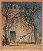 Luigi Kasimir (1881-1962) Sante Fe, Color etching,