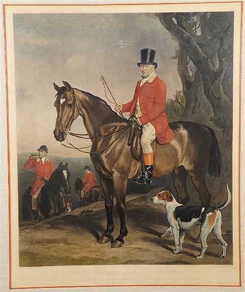 James Scott (British, 1809-1871) James John Farquharson, Esquire, Colored Engraving,