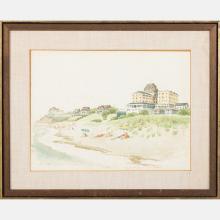 Woldemar Neufeld (1909-2002) Water Hill, Aug. 26th, 1967, Watercolor,