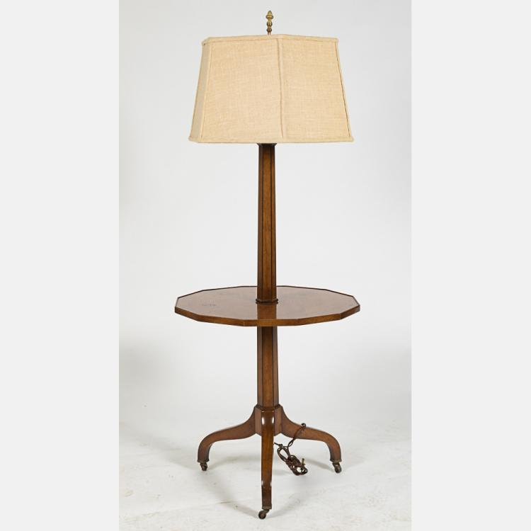 Colonial Table Lamps : A georgian style mahogany floor table lamp by old colonial f