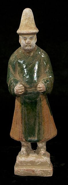 A Chinese Sancai Style Glazed Pottery Tomb Figure.
