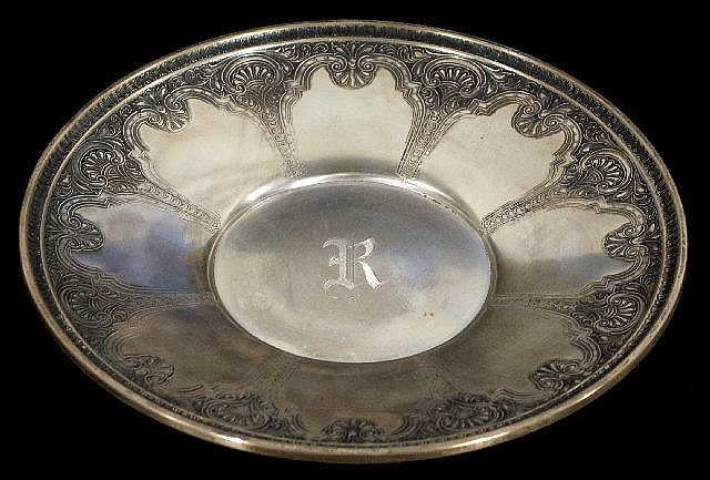 A Sterling Silver Footed Tray by the International Silver Company,