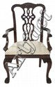A Chippendale Style Mahogany Arm Chair, 20th Century.
