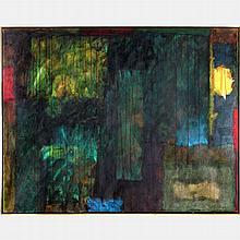 Bernard Pfriem (1926-1996) Window Picture #6, Oil on canvas,