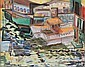 Clara L. Deike (1881-1964) Boats on a River, Watercolor on paper,, Clara L Deike, Click for value