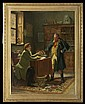 Stephen Lewin (British, active 1880-1910) Two Men at Desk in Office Interior, Oil on canvas,