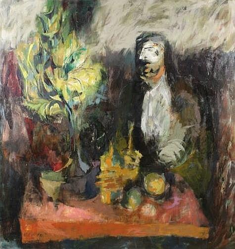 Michael Aloysius Sarisky (1906 - 1974, American) Untitled, Oil on Canvas