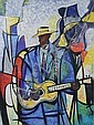 William Tolliver (American, 1951 - 2000) Luther, Jazz Guitar, Serigraph