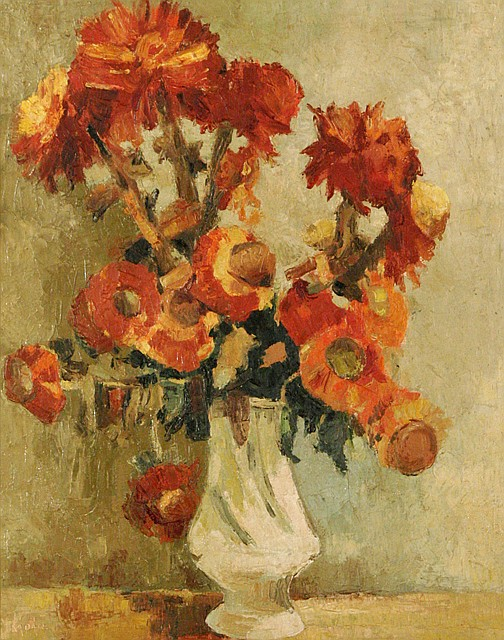 Bela Adalbert Kadar (Hungarian, 1877-1956) Floral Still Life, Oil on canvas,