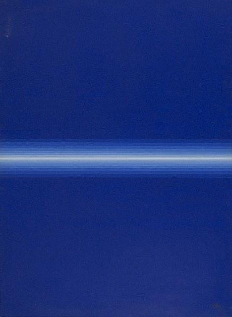 Roy Ahlgren (1927-2011) Blue Divide, Acrylic on canvas,