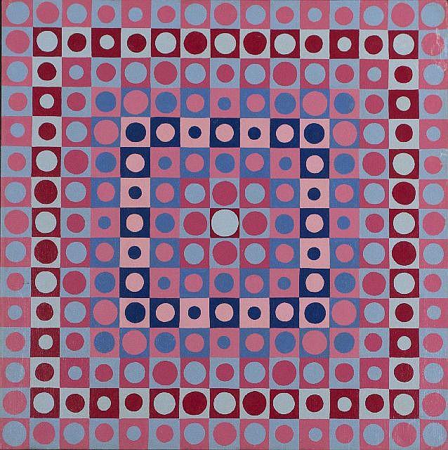 Roy Ahlgren (1927-2011) Prismatic, Oil on canvas,