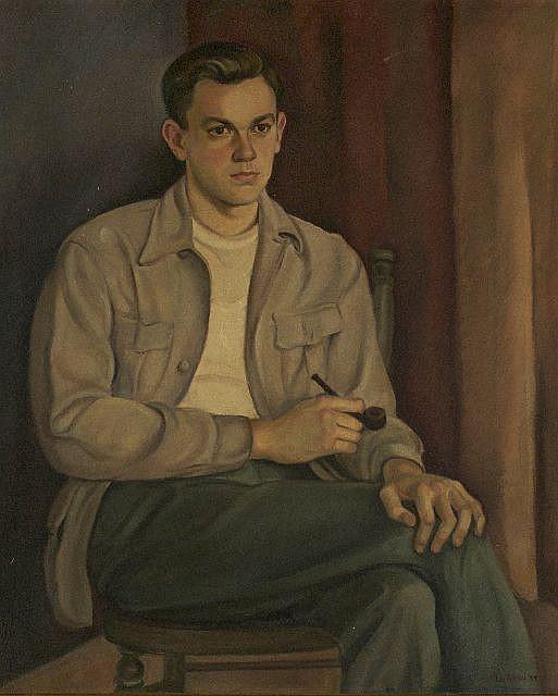 La Reau (20th Century) Portrait of a Man, Oil on canvas,