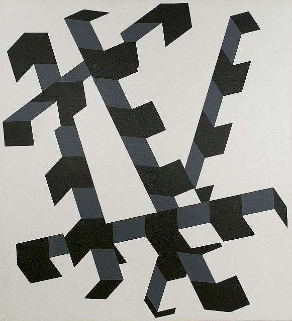 Allan D'Arcangelo (1930-1998) Constellation No. 12, Acrylic on canvas,