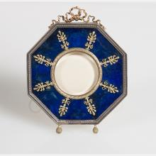 A Russian Style Gilt Silver and Lapis Frame, 20th Century,