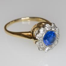 A Yellow Gold, Diamond and Color Stone Ring.