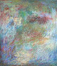 Al James Newbill (b. 1921) Drifting Forms, 1972-73, Oil on canvas,