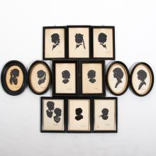 A Collection of Twelve Cut Paper Silhouettes by Wallie Spatz, Cleveland OH, 20th Century,