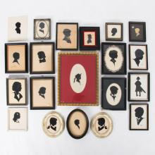 A Collection of Twenty Cut Paper Silhouettes Depicting Children by Various Artists, 20th Century,