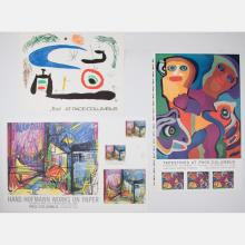 A Group of Three Silkscreen and Lithographic Pace/Columbus Exhibition Posters by Various Artists, 20th Century,