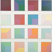 Edwin Mieczkowski (b. 1929) Untitled, Acrylic and wood.