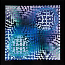Victor Vasarely (1906-1997) Feny, Heliogravure.