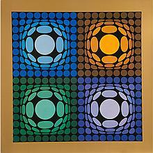 Victor Vasarely (1906-1997) Vega-Bi-Arct, Heliogravure.
