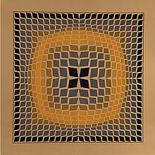 Victor Vasarely (1906-1997) Quasar-2, Heliogravure.