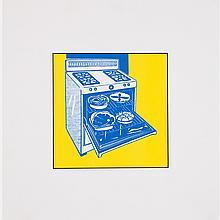 Roy Lichtenstein (1923-1997) Kitchen Range, 1961, Lithograph on glossy paper.