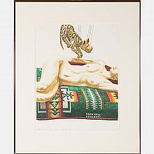 Philip Pearlstein (b. 1924) Tiger Marionette, Lithograph,