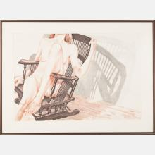 Philip Pearlstein (b. 1924) Female Nude with Rocking Chair, 1977, Lithograph,