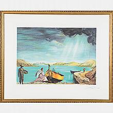 Salvador Dali (1904-1989) Angel of Port Lligat, Lithograph,