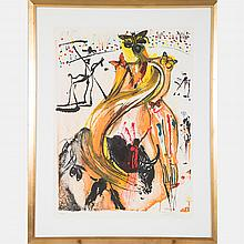 Salvador Dali (1904-1989) Butterfly and the Bullfighter, 1970, Lithograph,