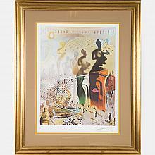 Salvador Dali (1904-1989) Le Toreador Hallucinogene, Lithograph in color,